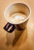 Unfinished cafe latte Royalty Free Stock Photo