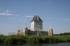 Unfinished Castle. In Almere. This castle is a ruin before it was build Stock Photos