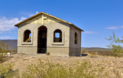 Unfinished Chapel on Arizona Indian Reservation Royalty Free Stock Image