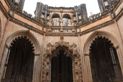 Unfinished Chapels at Monastery of Santa Maria da Royalty Free Stock Image