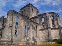 Unfinished church. Picture of the unfinished church in St. George, Bermuda Royalty Free Stock Images