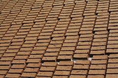 Unfinished Clay Brick Stock Image