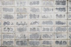 Unfinished concrete block wall Royalty Free Stock Image