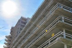 Unfinished concrete building from low angle royalty free stock photography