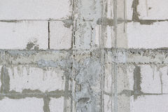 Unfinished concrete wall Stock Photo