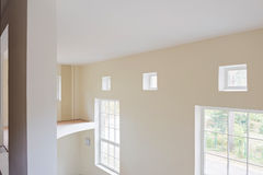 Unfinished construction interior of living room Stock Images