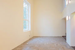 Unfinished construction interior of living room Stock Photography