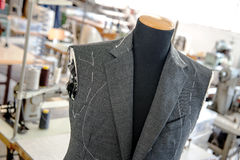 Unfinished Custom Jacket on Mannequin in Studio Royalty Free Stock Image