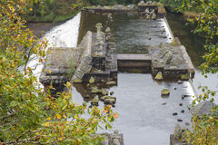 Unfinished Dam foundations Dol-y-Mynach. Royalty Free Stock Image