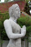 Unfinished deva statue. Royalty Free Stock Photos