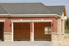 Unfinished double garage Stock Photography