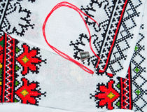 Unfinished embroidered work Royalty Free Stock Photography