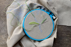 Unfinished embroidery Royalty Free Stock Image