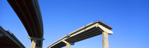 Unfinished freeway Royalty Free Stock Photography