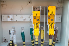 Unfinished fuse box Royalty Free Stock Image