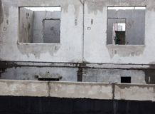 Unfinished grey concrete building in the construction site.  Stock Photography