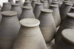 Unfinished handmade pot made of clay Stock Image