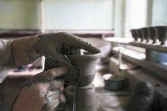 Unfinished handmade pot Stock Image