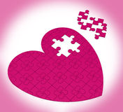 Unfinished Heart Puzzle Showing Happiness Stock Images
