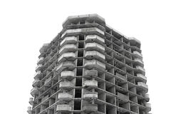 Unfinished high rise building concrete structure Stock Photos