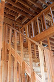 Unfinished Home Frame Interior royalty free stock photography