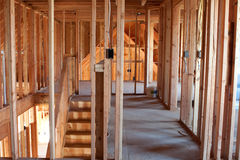 Unfinished Home Framing Interior stock photo