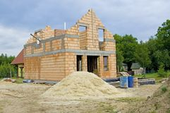 Unfinished house Stock Images