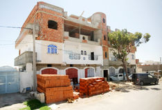 Unfinished house in Bir Al Huffay Royalty Free Stock Photo