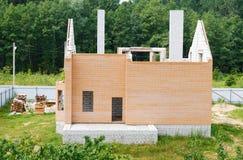 Unfinished house of brick Stock Photo