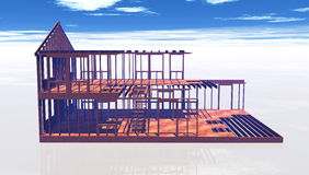 Unfinished house frame Royalty Free Stock Photos