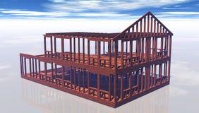 Unfinished house frame Stock Image