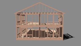 Unfinished house frame Royalty Free Stock Image