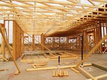 Unfinished House Frame - Horizontal Stock Image