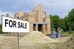 Unfinished house for sale Royalty Free Stock Photo