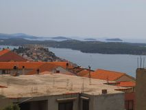 An unfinished house in Sibenik. stock photo