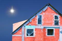 Unfinished house Stock Image
