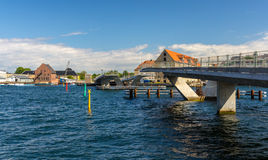 Unfinished Inner Harbor Bridge in Copenhagen Royalty Free Stock Images