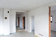 Unfinished interior. Of the new house Royalty Free Stock Photos