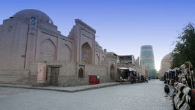 Unfinished Kalta Minor Minaret. Khiva, Uzbekistan stock footage