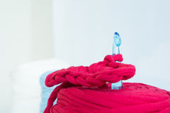 Unfinished knitting Royalty Free Stock Photography