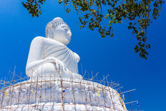 Unfinished large Buddha Royalty Free Stock Photos