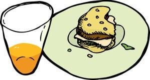 Unfinished Meal vector illustration