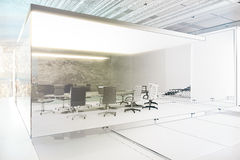 Unfinished meeting room project Royalty Free Stock Photo