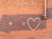 Unfinished message on a wall Royalty Free Stock Images