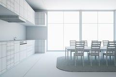 Unfinished modern kitchen interior Stock Image