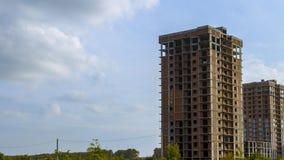Unfinished multi-storey building stock photos