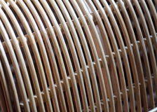 Unfinished natural color and texture surface of a raw rattan furniture Stock Images