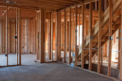 Unfinished New Construction Framing Stock Images