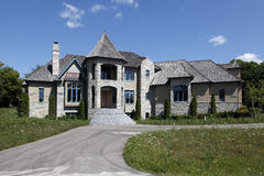 Unfinished new construction home Royalty Free Stock Photo
