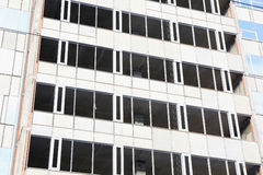 Unfinished office building without windows Royalty Free Stock Photography